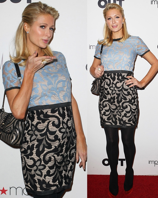 Paris Hilton at OUT Celebrates LA Fashion Week With OUT Fashion Benefitting The AIDS Healthcare Foundation in Los Angeles on March 7, 2013