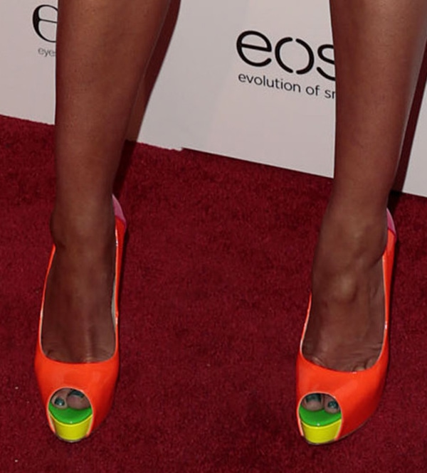Peta Murgatroyd shows off her feet in Brian Atwood Alima pumps
