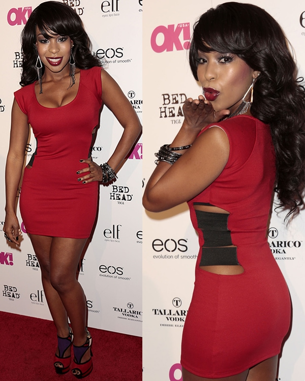 "Porscha Coleman at OK! magazine's ""So Sexy"" event at Skybar at the Mondrian Hotel in Los Angeles on April 18, 2013"