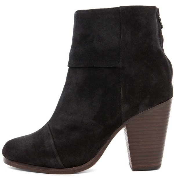 RAG & BONE Classic Newbury Suede Boot in Charcoal $495 Outstep