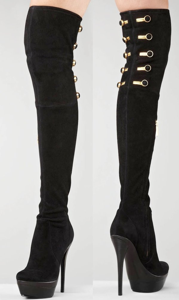 Rachel Zoe 'Dylan' Stretch Suede Over-the-Knee Boots