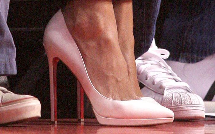 A closer look at Rihanna's pumps