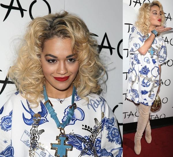 Rita Ora hosts a night at TAO Nightclub