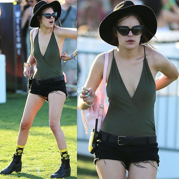 Tallulah Willis stripped down to just her swimsuit later that day, and we love that she still wore her boots with it