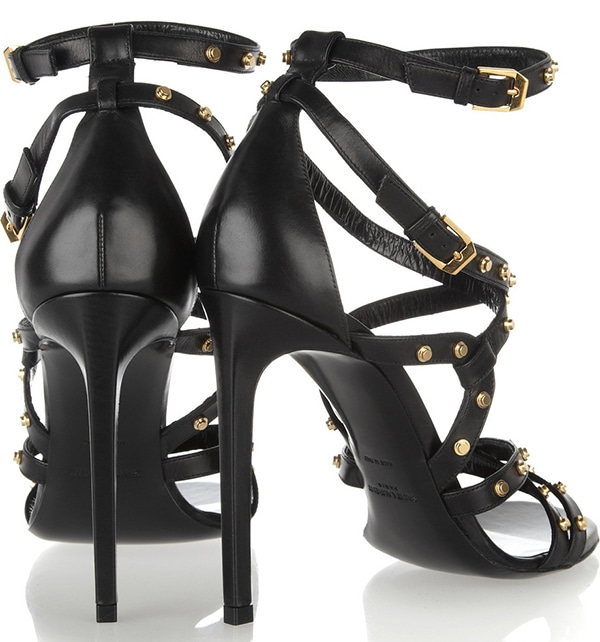 Saint Laurent Studded Leather Sandals2