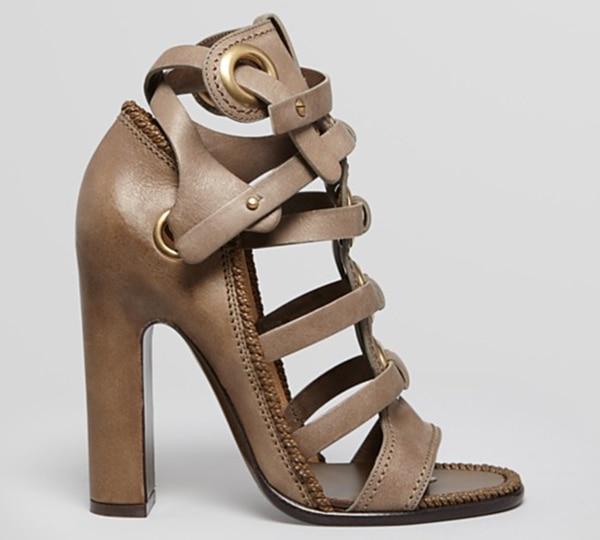 Salvatore Ferragamo Gladiator Sandals in Fossil Grey1