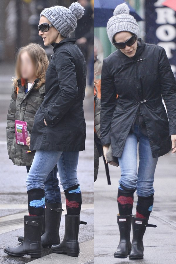 Sarah Jessica Parker taking her son to school in the West Village on March 12, 2013