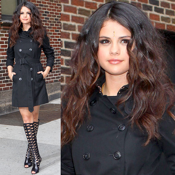 Selena Gomez at the Ed Sullivan Theater for the 'Late Show with David Letterman' in New York City on April 24, 2013