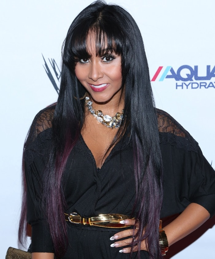 Nicole 'Snooki' Polissi at the WWE Superstars for Sandy Relief at Cipriani Wall Street in New York on April 4, 2013