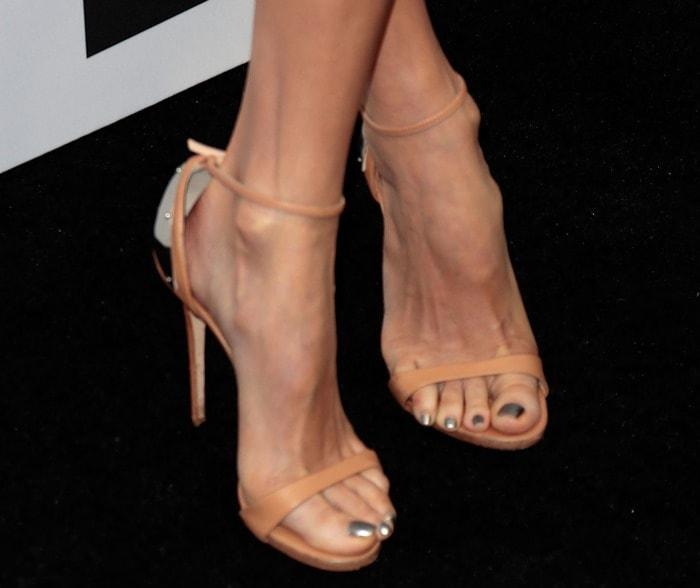 A closer look at Stacy Keibler's Giuseppe Zanotti heels