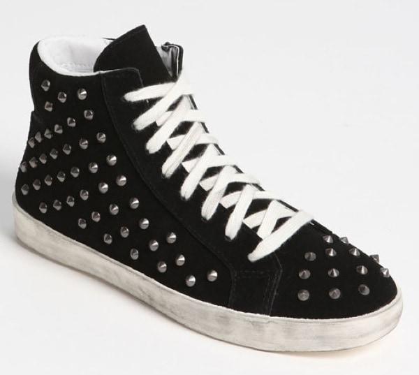 Steve Madden 'Twynkle' Studded Sneaker in Black