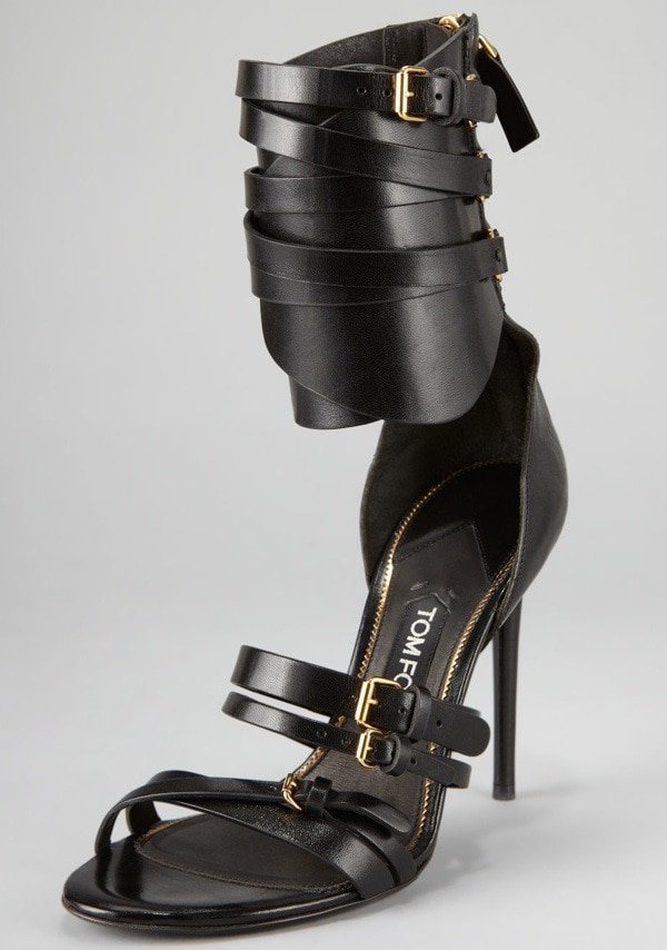 Tom Ford Back-Zip Ankle-Cuff Pump