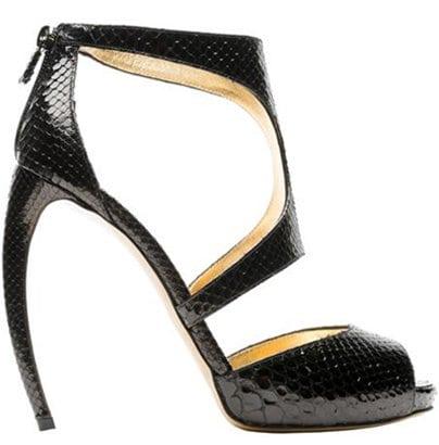 Black Snakeskin Walter Steiger 'Tempo' Sandals