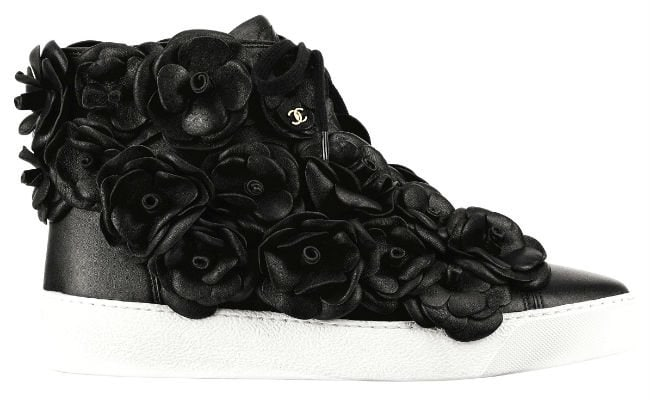 Chanel Camellia High Top Sneakers
