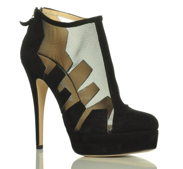Bionda Castana Belen Paneled Ankle Boots with Mesh