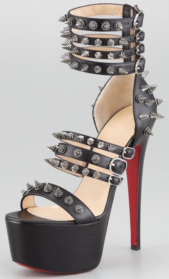 Christian Louboutin Botticellita Spiked Platform Sandals