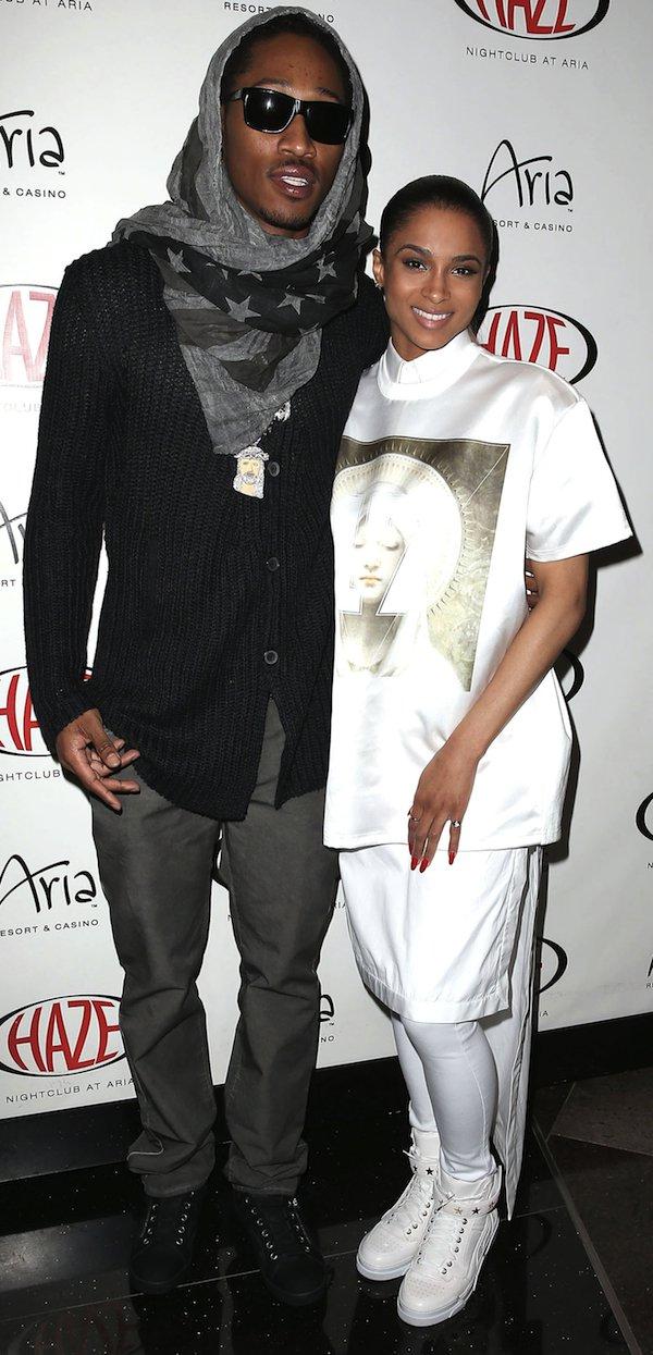 Ciara and Future matchy in Givenchy