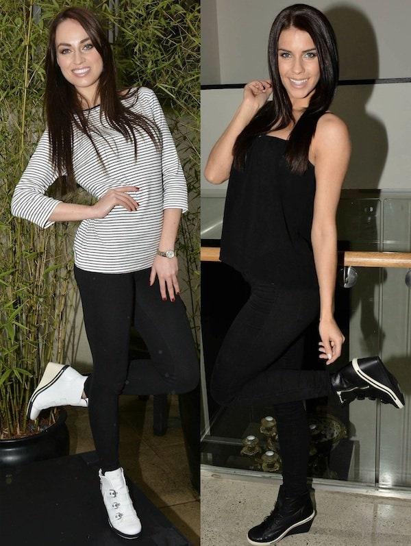 models in sneaker wedges
