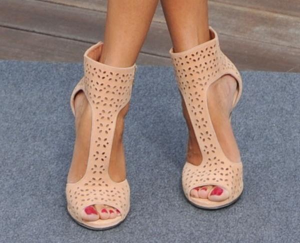 Zoe wearing Jimmy Choo Tahi sandal booties