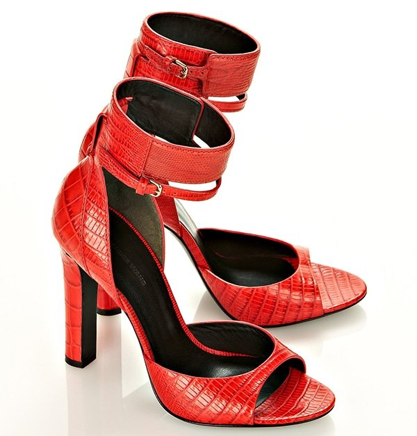 Alexander Wang Aminata Sandals in Red