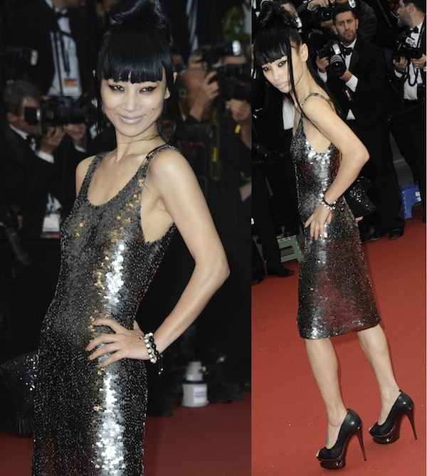 Bai Ling in a toned-down ensemble at the 66th Annual Cannes Film Festival Opening Ceremony on May 15, 2013