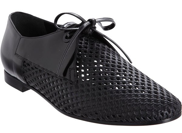 Balenciaga Perforated Derby Shoes in Black