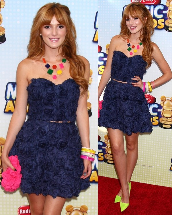 Bella Thorne at the Radio Disney Music Awards 2013 at the Nokia Theater on April 27, 2013