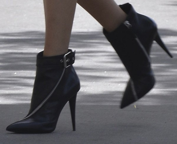 Blake switching to Giuseppe Zanotti Pre-Fall 2013 zipper-trimmed booties