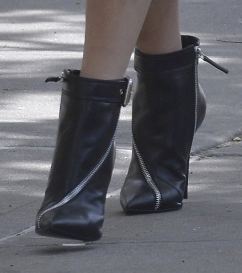 Blake Lively wearing Giuseppe Zanotti zipper-trimmed booties