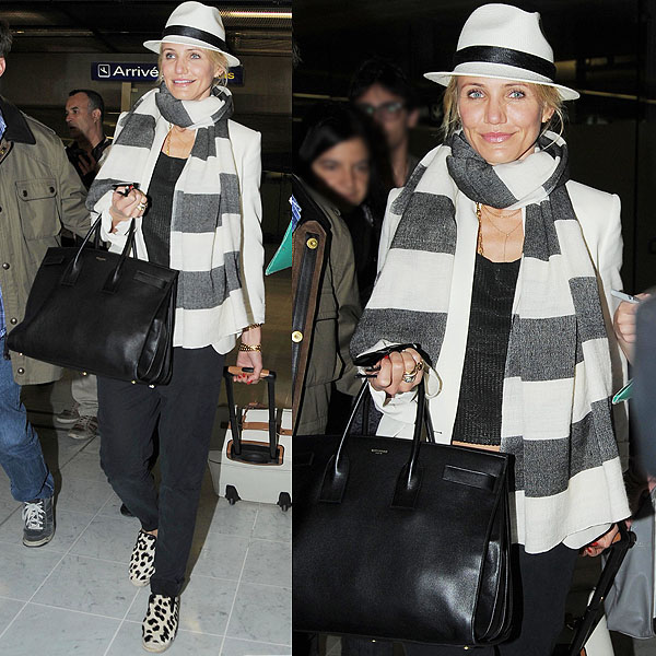 Could Cameron Diaz make wearing leopard print look any easier?