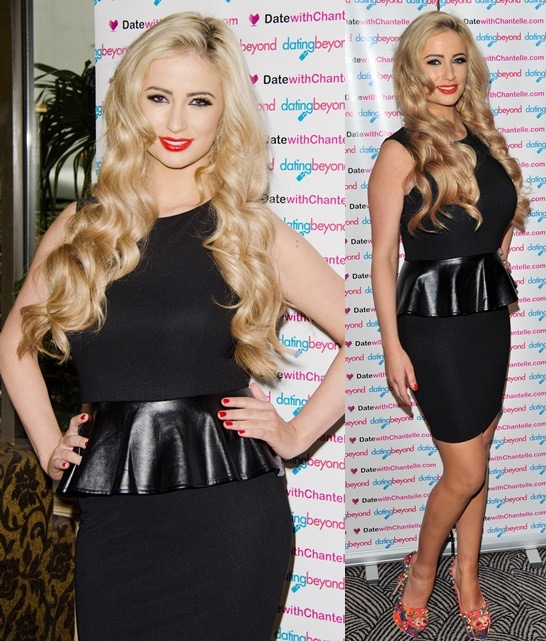 Chantelle Houghton at the launch of her dating website at Danibus Hotel in London, May 15, 2013