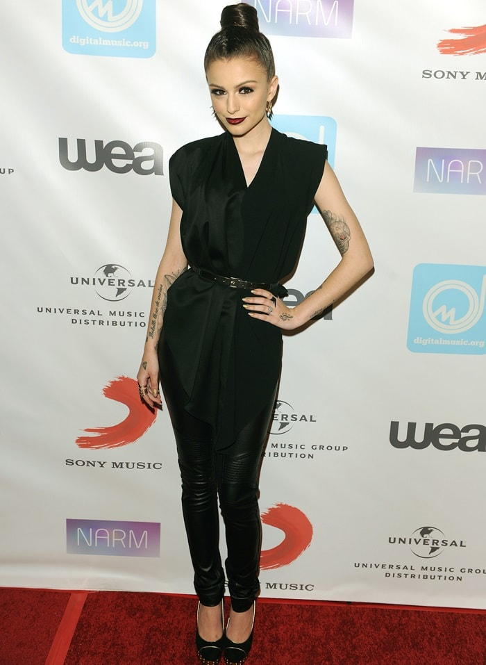 Singer Cher Lloyd attends the NARM Music Biz Awards dinner party at the Hyatt Regency Century Plaza on May 9, 2013 in Century City, California