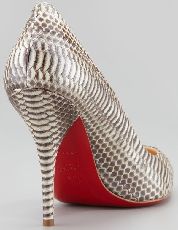 Christian Louboutin Batignolles Snake Pointed Toe Red Sole Pump Heel