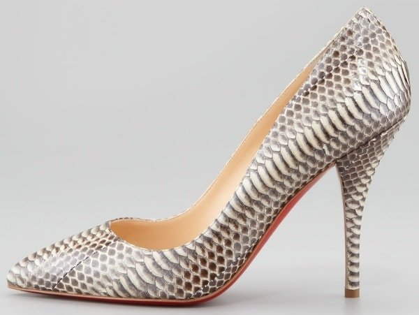 Christian Louboutin Batignolles Snake Pointed Toe Red Sole Pump Outstep