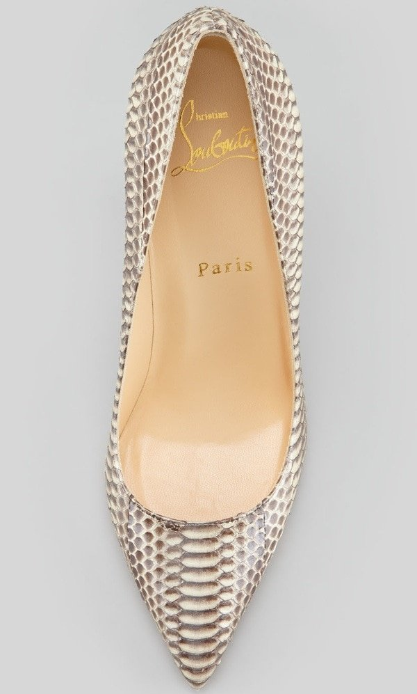 """Christian Louboutin """"Batignolles"""" Snake Pointed-Toe Red-Sole Pumps"""