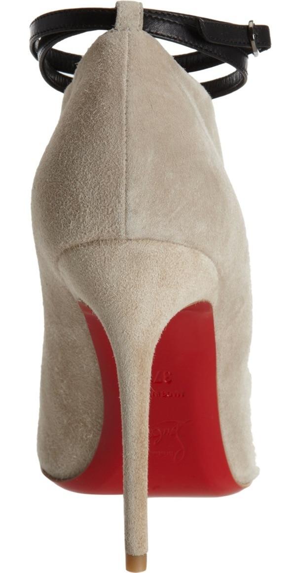 Christian Louboutin Diptic in Stone, $995 Heel