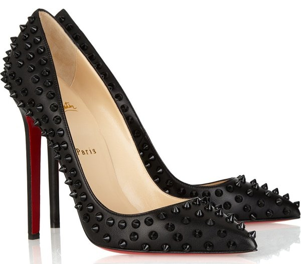 Christian Louboutin Pigalle Spikes 120 studded leather pumps