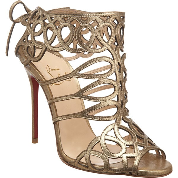 Christian Louboutin Zigouwi sandals in metallic