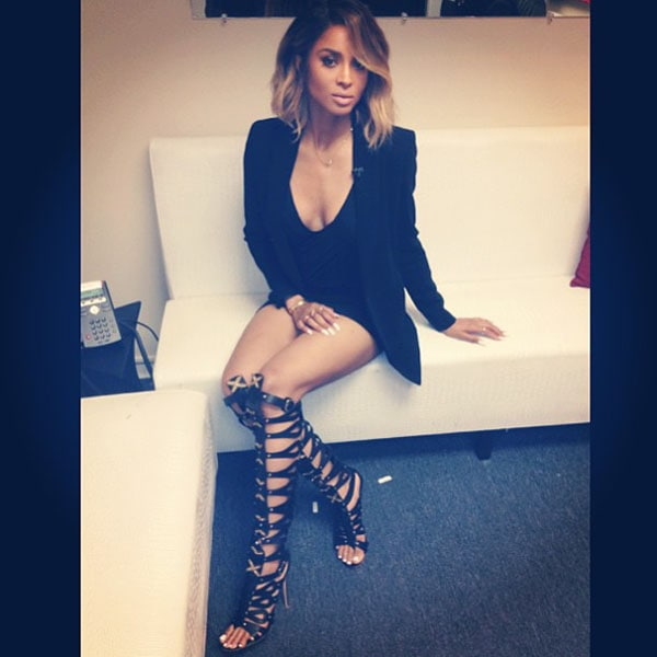 Ciara shared photos on Instagram of what she was going to wear on the Wendy Williams Show