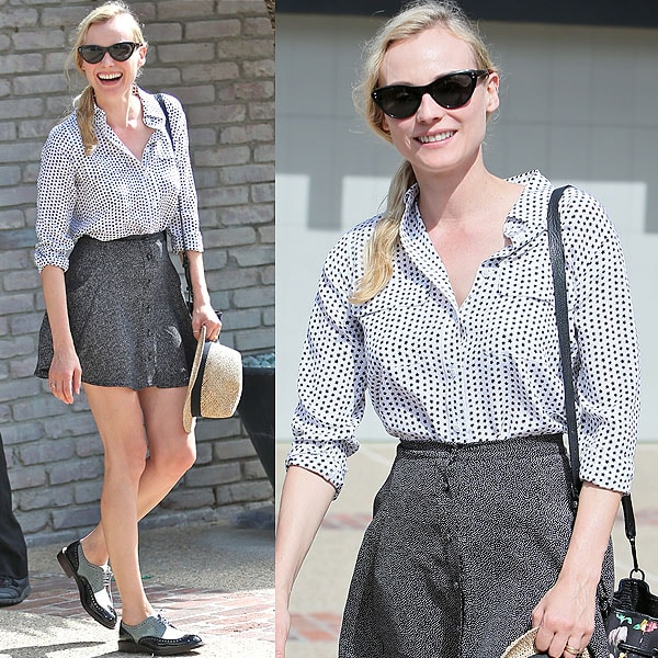 Diane Kruger arrives at producer Joel Silver's Memorial Day Party in Malibu, California, on May 27, 2013