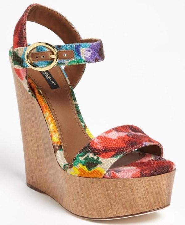 Dolce&Gabbana Floral Sandals