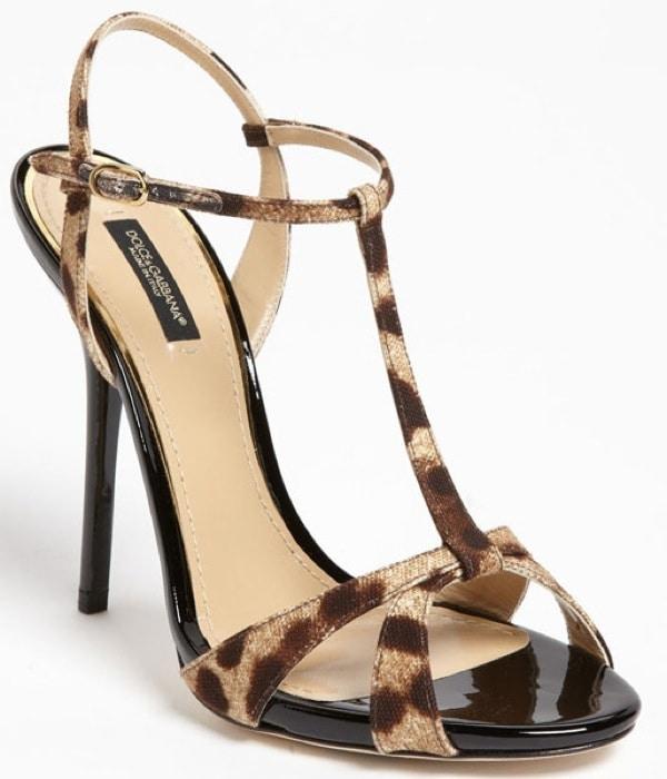 Dolce&Gabbana Leopard Print Sandals