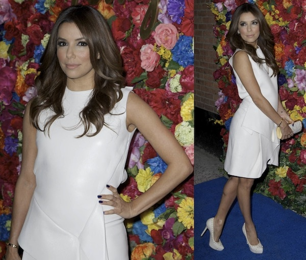 Actress Eva Longoria attends the Ferragamo Celebrates The Launch Of L'Icona Highlighting The 35th Anniversary Of Vara at The McKittrick Hotel on April 30, 2013 in New York City