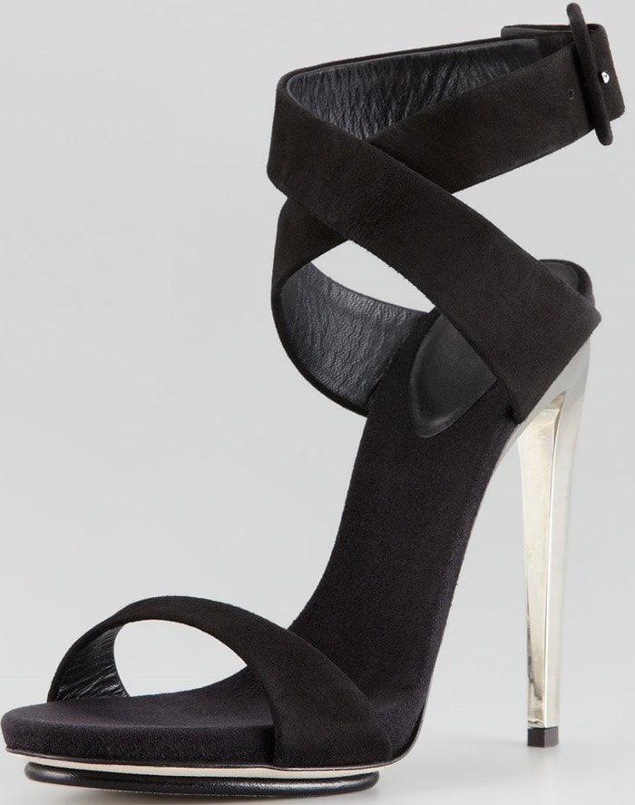 Giuseppe Zanotti Suede Crisscross Sandals