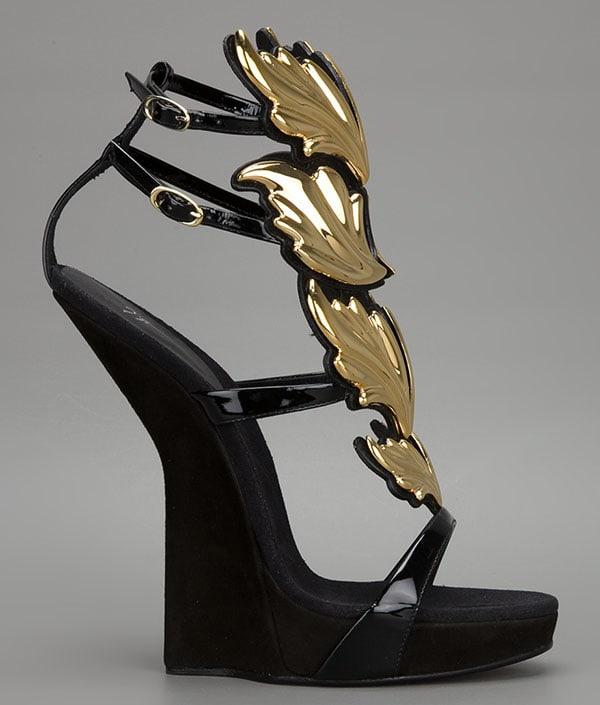 Giuseppe Zanotti Winged Heel-less Sandals