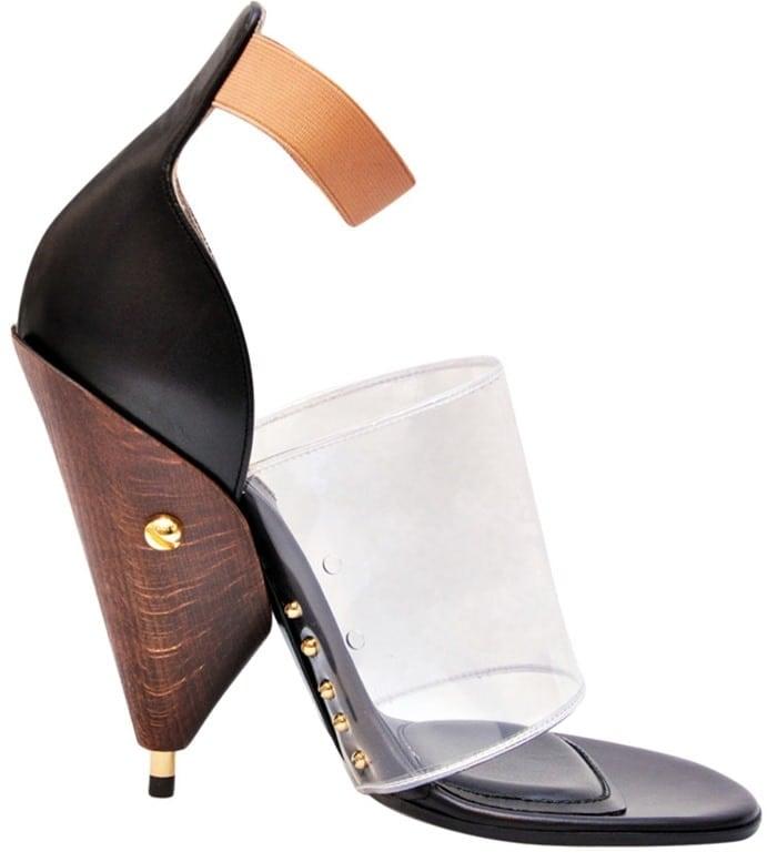 Givenchy Black and Transparent Albertina Podium Heels