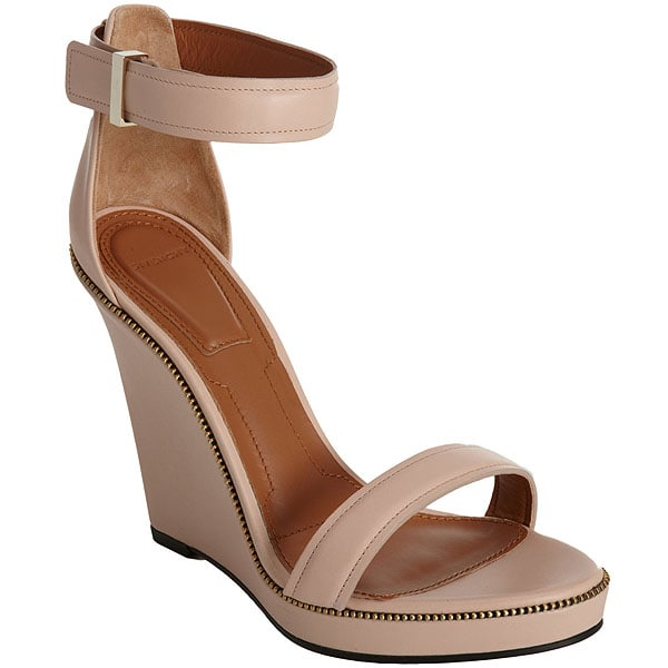 Givenchy Zipper Trim Wedge Sandals