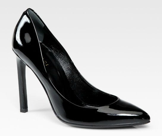 Gucci Gloria Patent Leather Pumps in Black
