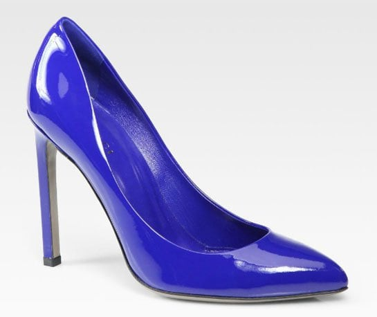 Gucci Gloria Patent Leather Pumps in Cobalt