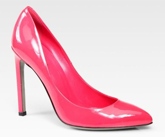 Gucci Gloria Patent Leather Pumps in Pink
